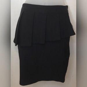 Charlotte Russe Sz S Black Peplum Pencil Skirt